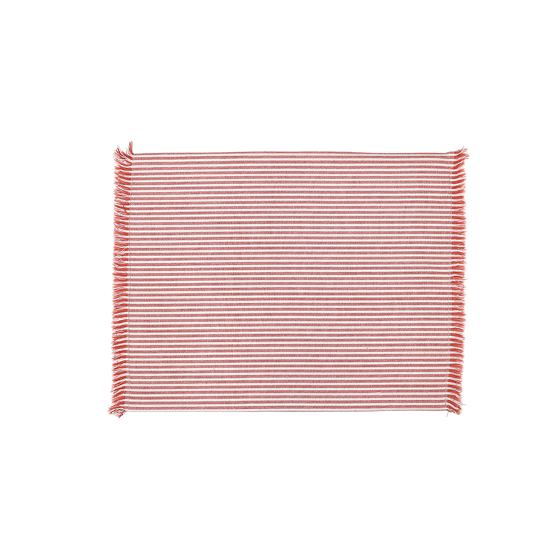 Abby Stripe Placemat Terracotta - Double sided -Set of 4