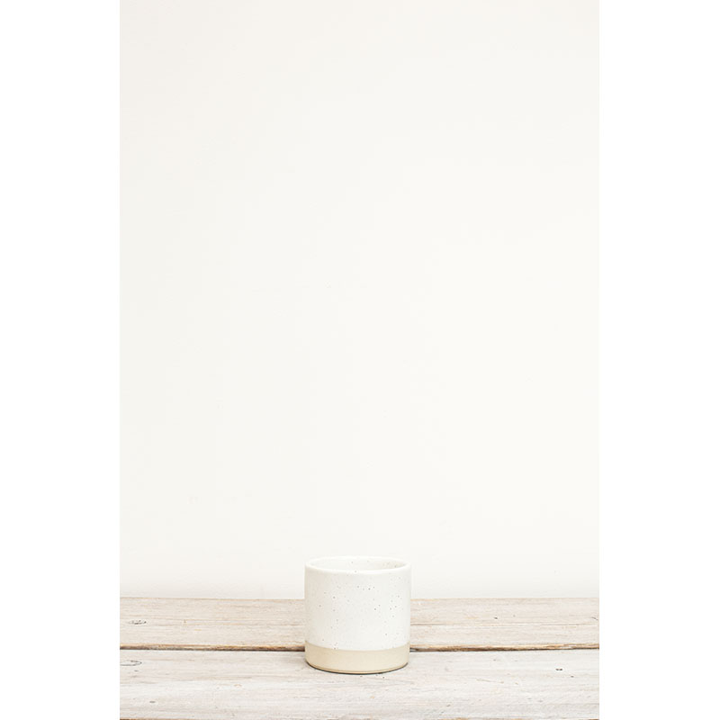 Tilli Ivory Speckled Small Plant Pot 9.5x10cm