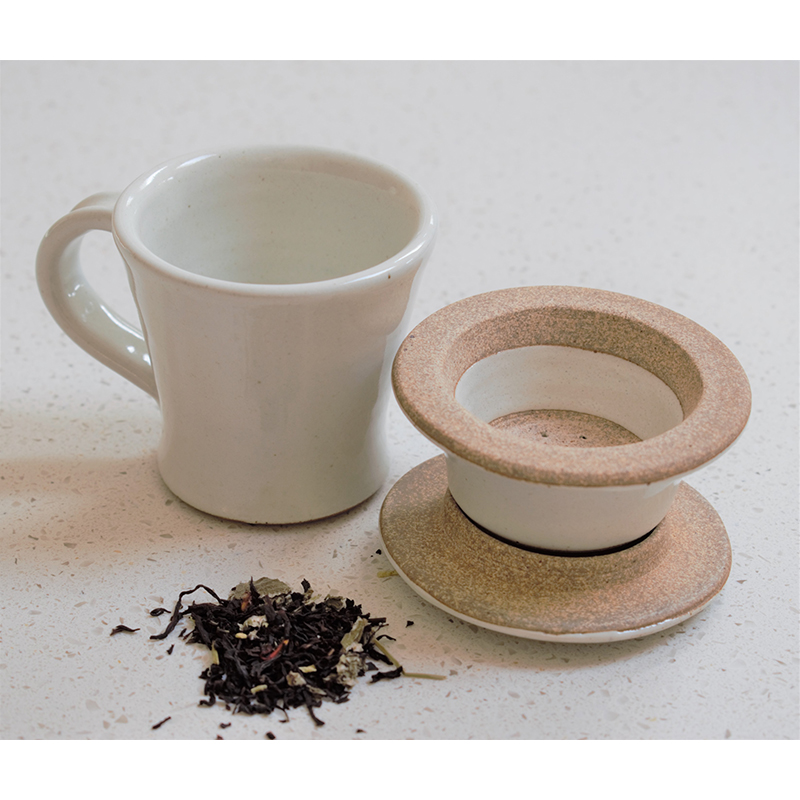 Chai Cup and Strainer set - Milk White