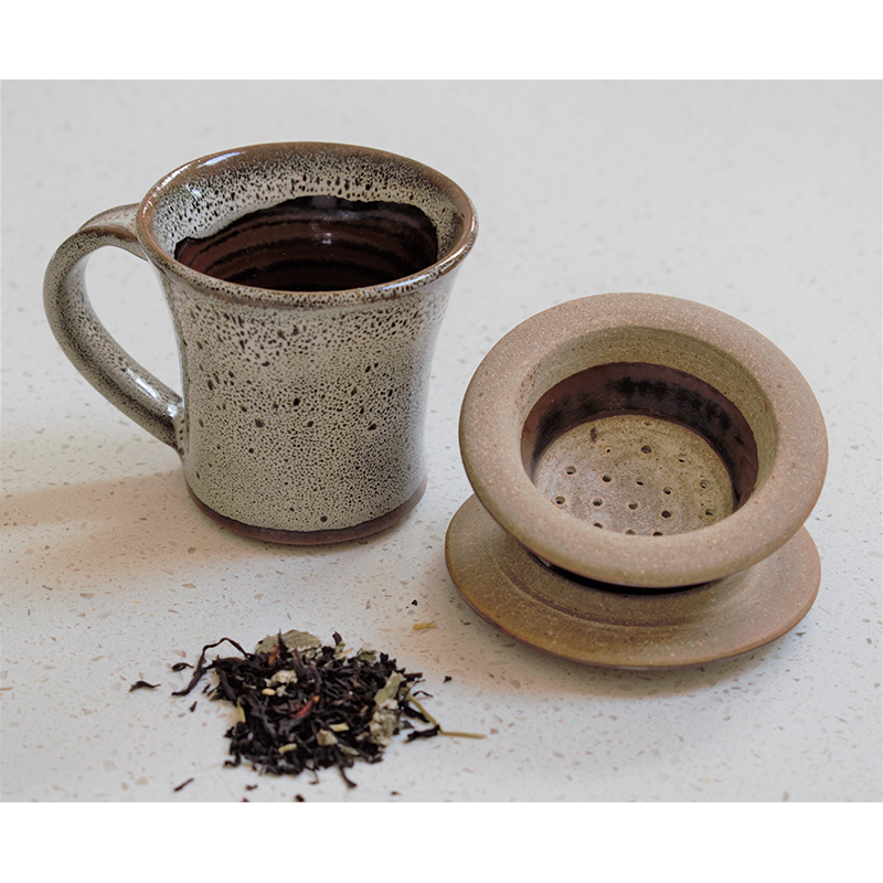 Chai Cup and Strainer set - Tawny