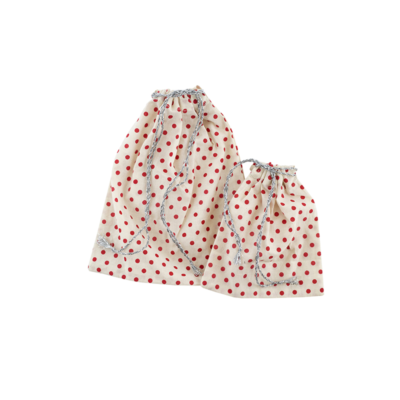 Red Star Cotton Gift Bags - Set of 2