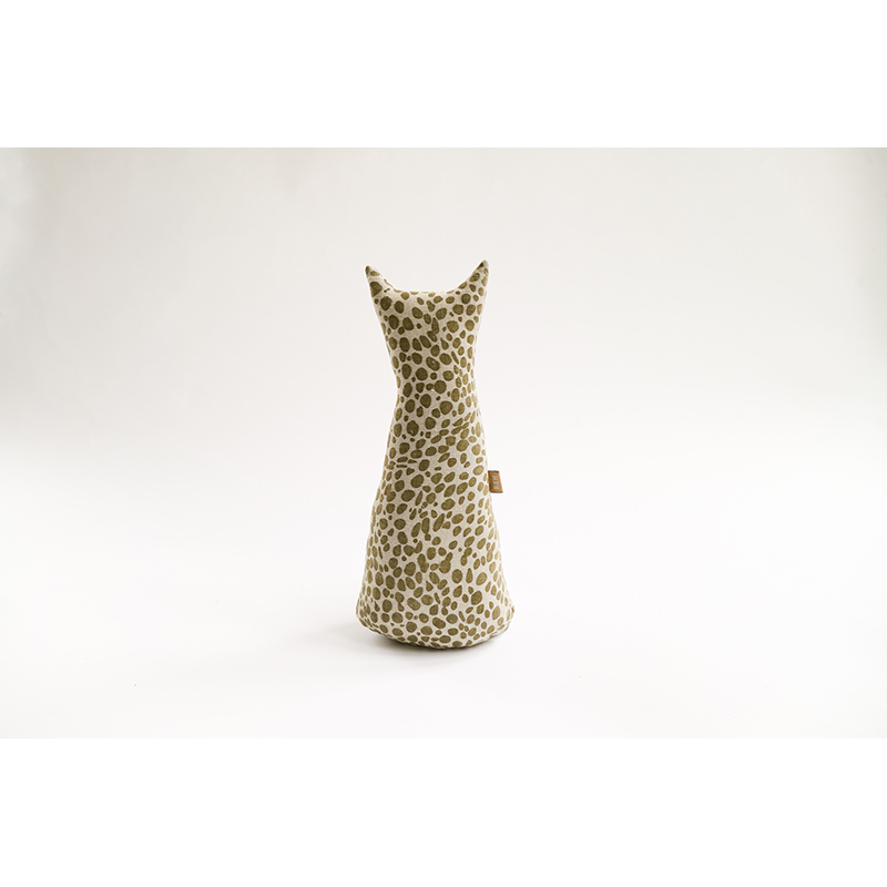 Animal Print Door Stopper Khaki Green