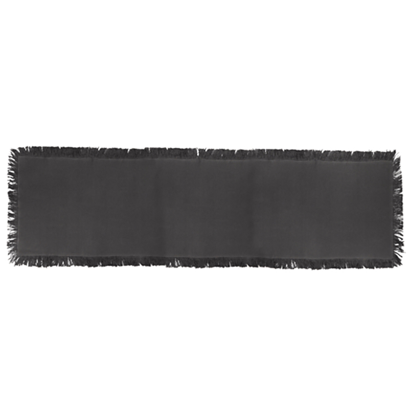 Manor Stripe Table Runner Charcoal